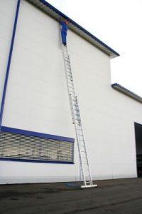 Échelle de corde 3pièces en aluminium avec traverse Nivello® 3x 14échelons–22414