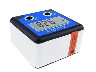 Aimants Base 360° inclinomètre numérique Angle calibre M Niveau à bulle horizontal biseau Boîte Outil de mesure jy-180bb (2clés, C)