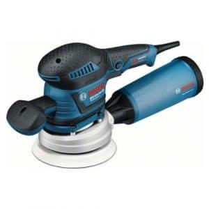 Bosch 060137B103 Ponceuse excentrique GEX 125-150 AVE avec Coffret L-BOXX + 50 Abrasifs