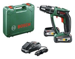Bosch Perceuse-visseuse à percussion «Expert» sans fil PSB 18 LI-2 Ergonomic 2 batteries 18V 2,5 Ah, technologie Syneon 06039B0301