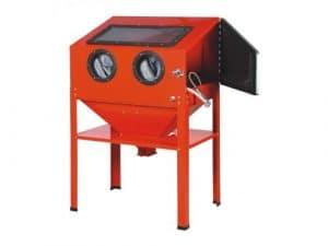 Cabine de sablage – microbilleuse – sableuse à manchons professionnelle 220 litres avec Accessoires