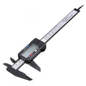 Drillpro 150mm / 6» Numérique Caliper Pied à coulisse digital outil micromètre vernier affichage LCD