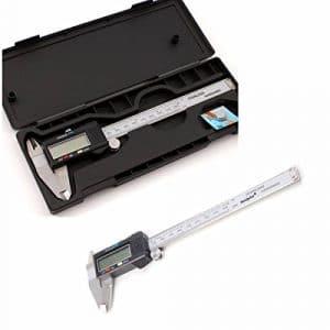 Drillpro 150mm / 6» Numérique Caliper Pied à coulisse digital outil micromètre vernier affichage LCD (Blanc)