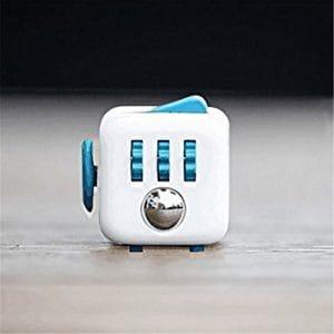 HENGSONG Cube Soulage le Stress et L'anxiété pour Les Enfants et Les Adultes Cadeaux de Jouets (Bleu Blanc)