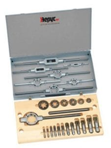 Hepyc 28190000001 Coffret de filetage ØBSP1/8,1/4,3/8,1/2,3/4,1″ (BSP1 mm/8″-1″)