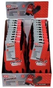 KS Tools 310.0240D Présentoir de gants de protection Racing blancs taille L,XL,XXL – 30 pcs