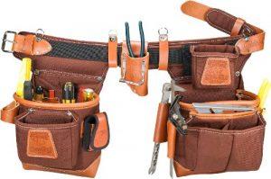 Occidental Leather 9855LH Ceinture porte-outils ultra-résistante pour gaucher Taille ajustable Café