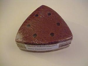 Olbrich-Industriebedarf Delta Lot de 50 triangles abrasifs velcro 93x 93x 93mm