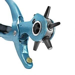 S&R Précision /made in Germany/ Revolver Revêtement Poudre avec 6 Trous interchangeables Tailles Pipes 2-2,5-3 – 3,5-4 – 4,5 mm; Pince à trous revolver Emporte-Pièce d'action Prix