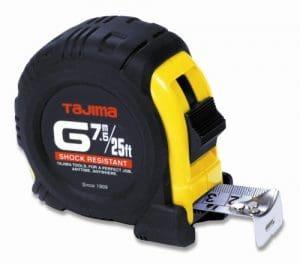 Tajima G-25 7.5Mbw/25 m Échelle métrique Standard et ruban