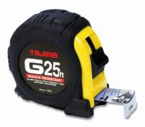 Tajima g-25bw 25-feet standard facile à lire échelle Ruban