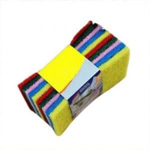 TOOGOO(R) Chiffon de nettoyage en tissu 10 pcs couleur aleatoire