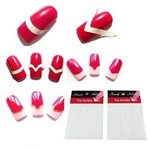 cuteco 1feuilles de transfert Autocollants pour nail art design 3D Manucure Conseils en décoration