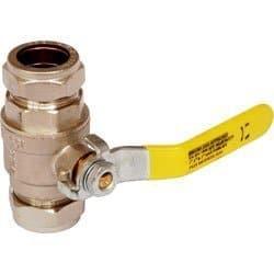 Pike & Co. Robinet de gaz et d'eau et tournant sphérique PN2515mm