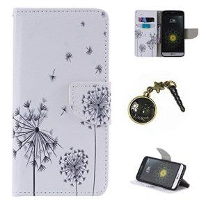 PU Cuir Coque Strass Case Etui Coque étui de portefeuille protection Coque Case Cas Cuir Swag Pour LG G5 + Bouchons de poussière (20)
