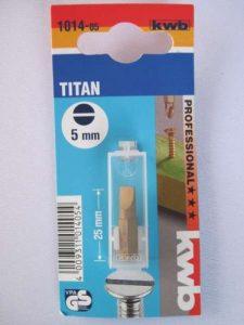 TITAN bits, tournevis 1/4, flachschlitz no 5, kWB, 1014-05 dIN mg