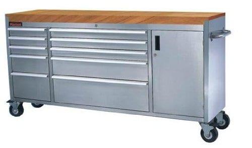 182 9 cm poitrine banc de travail bo te outils en acier inoxydable armoire placard meuble 10. Black Bedroom Furniture Sets. Home Design Ideas
