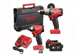 Milwaukee M18FPP2A-502X Fuel Perceuse Duo 18V 2 x batteries Li-ion 5,0Ah
