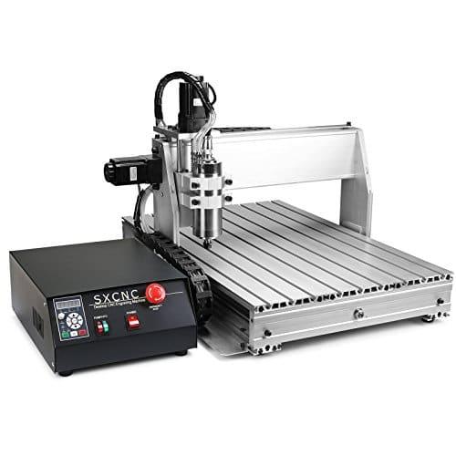 Happybuy Machine de Gravure 3 Axes Vis à Bille 6040Z Gravure Machine avec USB fonction Routeur CNC 600 mm x 400 mm Routeur Gravure Machine de Fraisage 0.8KW Water Cooled (3 Axes 6040Z avec USB fonction)