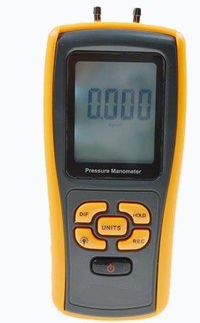 Manomètre de pression, YH-THINKING Digital affichage à cristaux liquides Manomètre Manomètre pression différentielle poche compteur avec USB Interface plage +/-10kPa