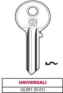 CH. clés brutes 'SILCA'ASC G.01 UL051 (Lot de 100)