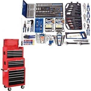 Draper Atelier Deluxe Kit d'outils (une) à une armoire & 2coffres à outils avec qualité Expert Automotive Atelier outils Set
