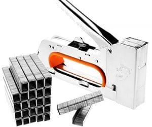 Tech Traders® 4/6/8mm en acier agrafe Pistolet agrafeur ameublement agrafeuse (No-staples)