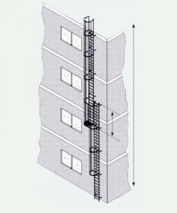 Zarges Stei Patins en acier galvanisé 14,90m