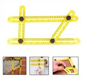 Angle-izer Template Tool Règle Multi – angle OKPOW Instrument de Mesure Multifonctionnel en ABS