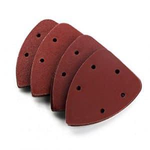 PIXNOR 40pcs Feuilles abrasives pour Ponceuses Velcro mixé 40 80 120 240