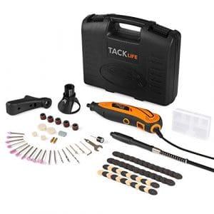 Tacklife RTD35ACL Avancé Outil Rotatif Electrique /Sculpter /Découper /Polir /Contrôle de Profondeur /80 Accessoires /3 Attachements /Conception Aérodynamique