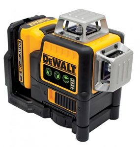 DeWALT Ligne Niveau laser et coque Lot de 3x 360degrés, Vert, 10.8V, 2Ah, 2pièces, Dce089d1g QW