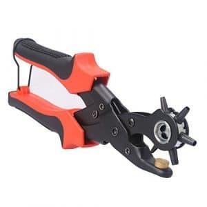 LEADSTAR Pince Perforatrice Cuir Poinçon Pinces Emporte-pièces Perforateur pour Cuir, Papier, Ceinture, Bracelet de Montre