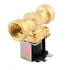 sourcingmap® Femelle G1/2″ laiton eau fermer électrovanne électromagnétique normale 3-25L/M 12V