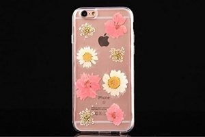 Coque Iphone 6S, iPhone 6S Fluide Case, iPhone 6 Transparent Cover, Cover pour iPhone 6, Étui pour iPhone 6S with 4,7, Cool 3D Crystal Clair Dual Layer Étui Glow Petals Design Bling Glitter Powder Sparkle In The Dark Étui Coque rigide pour Apple iPhone 6S/6 4,7