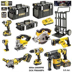 DEWALT Kit DCK-FR834MP4 54V/18V (DCD996 + DCG414 + DCH333 + DCS387 + DCS391 + DCS331 + DCL040 + DCF887 + 2 x 6,0 Ah 54V/18V + DCB118 + DS150 + DS300 + DS400 + Caddy)