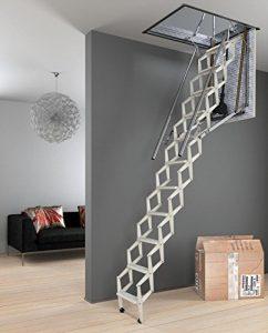 Echelle escamotable électrique – Hauteur maximale sous plafond 3.00m