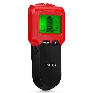 INTEY Détecteur de matériaux 3 en 1 Multi-fonctionnel Avec 3 Modes Ecran LCD Métal /Fil AC / Stud Capteur de Matériaux en Rouge
