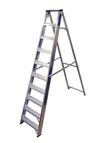 Lyte 10 Tread Swingback Stepladder (with tool tray) BS2037 Class1 by Lyte Industries (Wales) Ltd
