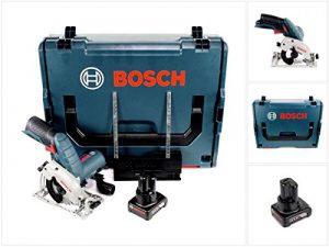Bosch GKS 12V–26Professional Scie circulaire dans coffret L-Boxx + 1x GBA Batterie 12V 4Ah batterie