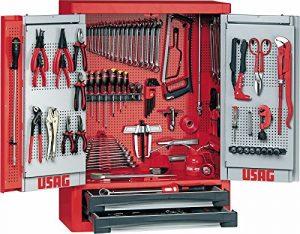 USAG u05020025502A2/E6Armoire avec assortiment 496E6pour industrie, 122pièces