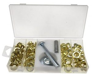 103pc Kit Réparation Pour Bâche tente 3 outils 50 oeillets et 50 Rondelles