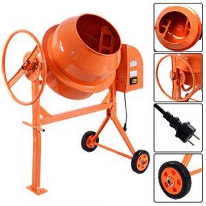 Bétonnière électrique cement mixer modèle 140L 650W mortier