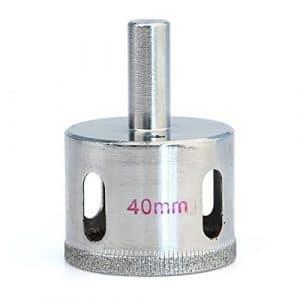 Idealeben® 40mm Foret diamanté Fraise Mèche Trépan pour Céramique Verre Marbre Carrelage Grés, Outil de coupe Foret diamante ( Diametre:40mm )