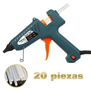Pistolet à Colle Professionel 100W Armes Chaude avec 20 pcs 200mm Bâtonnets de Colle WEINAS® Haute Température DIY Artisanat