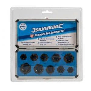 Silverline – 467893 – Coffret de 10 Extracteurs de Boulons
