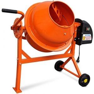 vidaXL 141200Bétonnière électrique 63L 220W Acier Orange