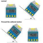 AKUNSZ Rapporteur d'Angle Numérique Inclinomètre Numérique Magnétique 4 x 90° Niveau à Bulle avec Écran LCD
