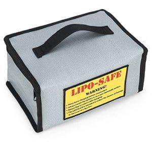 LiPo Sac de sécurité résistant au feu, chargement de la batterie de stockage Safe Pouch Sac résistant Explosion Guard Sac pour RC Drone DJI Mavic Pro Piles (215x 155x 115mm)