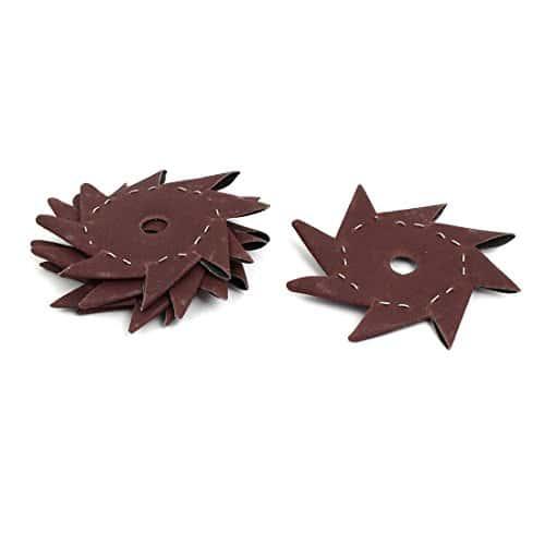 sourcingmap® 180 4 Grains» en forme roue polissage verre abrasif octogonale 5pcs Outil